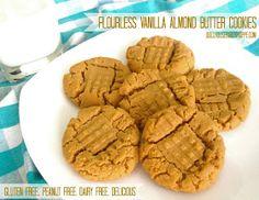 Dollhouse Bake Shoppe: Flourless Vanilla Almond Butter Cookies: gluten-free, peanut-free, dairy-free, delicious {Small Batch - Yield: 8-12}