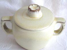 Frankoma Plainsman Desert Gold Brown Stoneware Pottery Covered Sugar Bowl #5B by McKeanLane on Etsy
