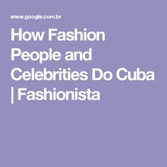 How Fashion People a