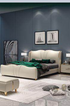 furniture design guide tips for modern bedroom design Hotel Bedroom Design, Bedroom Furniture Design, Modern Bedroom Design, Bed Furniture, Unique Furniture, Bedroom Designs, Room Ideas Bedroom, Bedroom Sets, Double Bed Designs