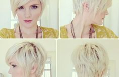 Pixie Haircut with Long Bangs {Haircuts}