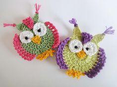 """Аппликация """"СОВА""""  Crochet OWL applique"""