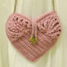 ~ Crochet Heart Bag Inspiration ~