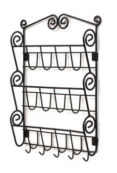 Letter Mail Rack Key Holder Organize Hanger Hook Shelf Sorter Black Wall Mount #SpectrumDiversified