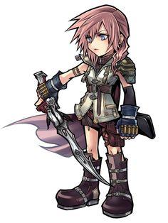 Lightning from Dissidia Final Fantasy Opera Omnia