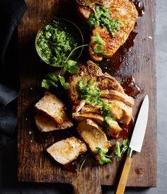 Grilled Pork Chops with Jalapeño Chimichurri   Williams-Sonoma Taste