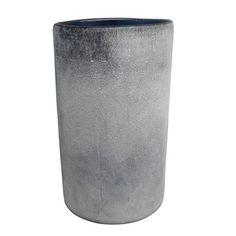 allen + roth 8-in H Blue Glass Hurricane Outdoor Decorative Lantern