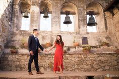 Mission San Juan Capistrano Engagement Session | Stephanie& Emerson