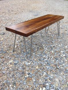 Characterful reclaimed wood hairpin leg table   bench - handmade retro unit  - ready for immediate dispatch c26b6dcf8fcf