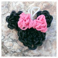 Minnie Mouse  Rainbow Loom Charm & Pendant by PrettyInPnkCreations, $3.00