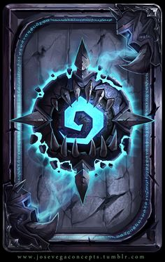 Something fun for a cardback for hearthstone. Fan art work - card back Game Card Design, Board Game Design, Fantasy Kunst, Fantasy Art, Death Knight, Hand Painted Textures, Game Icon, Game Concept, Wow Art