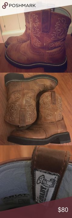 Ariat Original Cowboy Boots Great for riding horses (or doing errands) these minimally worn boots will add a little flavor to your wardrobe! Ariat Shoes Ankle Boots & Booties