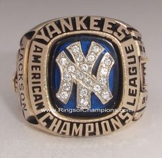 "1981 New York Yankees World Series ""American League"" Champions 10K Gold Ring"
