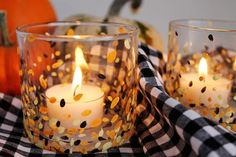 Painted Candle Holde