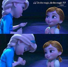 "Little Elsa and Anna - ""Do the magic!!!"" XD <3"