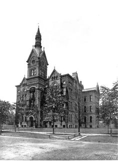 3rd Central High School, Willson Ave between Cedar & Central. The high school's library formed the nucleus of the original public library, and CPL maintained a collection there (though sometimes very small) for many years.