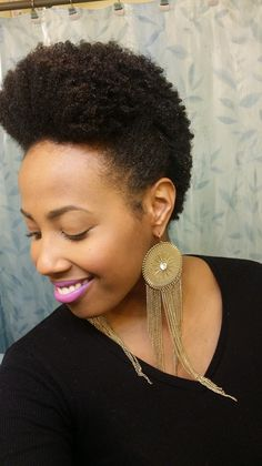 4 sexy hairstyles for short natural hair!  (image source: Pretty Girl Syndrome)