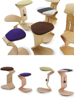 Ercolino, the active and dynamic stools by NEST NATURE