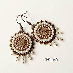 Beaded earrings Sunshine