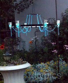 1000 images about how to make solar lights mason jars on for Solar light chandelier diy