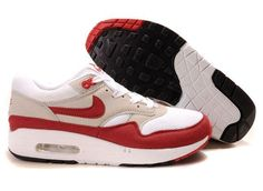 Find 378830 161 Nike Air Max 1 QS White Sport Red Neutral Grey Black Super Deals online or in Pumafenty. Shop Top Brands and the latest styles 378830 161 Nike Air Max 1 QS White Sport Red Neutral Grey Black Super Deals of at Pumafent Nike Air Max Trainers, Nike Air Max 87, Nike Air Max White, Nike Air Max For Women, Mens Nike Air, Air Max 1, Nike Men, Red Sneakers, Air Max Sneakers