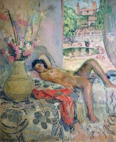 Reclining Nude Artwork By Henri Lebasque Oil Painting & Art Prints On Canvas For Sale Figure Painting, Painting & Drawing, Figurative Kunst, Nude Portrait, Impressionist Artists, Pics Art, Henri Matisse, French Artists, Life Drawing