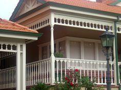 Nice Fretwork House   Google Search · Decorative Wood TrimPorchesVerandasPorticosFront  PorchesFront YardsTerracesTerrace