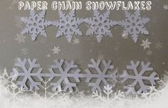 Paper chain snowflakes #paper_craft #holiday #Christmas