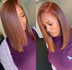🔥🔥🔥Color crushing on this fiery color and silk press by ⭐️⭐️⭐️What would you call this color? Hair Color For Women, Hair Color For Black Hair, Love Hair, Gorgeous Hair, Beautiful, Pressed Natural Hair, Dyed Natural Hair, Dyed Hair, Colored Natural Hair