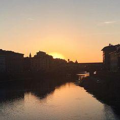 Summer sunset in Florence, Italy // @allafiorentina