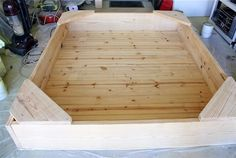 diy sandbox with benches | If you are adding a floor, cut pieces to size and nail or screw ...
