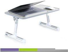 ~~Xgear~~Foldable Multi-Angle Laptop Table with USB Cooling Fan!  4 color available!!! Laptop/PC table/Gift/computer table/Portable Laptop D...