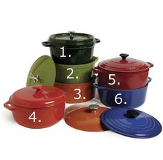 Equipment Review: Enameled Cast-Iron Dutch Ovens - - - I want one of these...probably Lodge. ;)