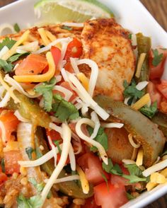 Easy Chicken Fajita Rice Bake