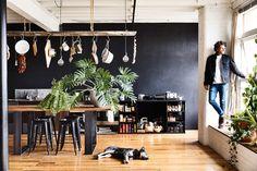 Melbourne furniture maker Nick McDonald of Made By Morgen invites us inside his warehouse home and studio. Top Furniture Stores, Furniture Movers, Furniture Companies, Warehouse Home, Interior Styling, Interior Design, White Wash Brick, Workshop Studio, Melbourne House