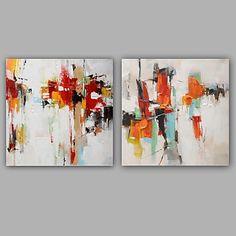 【今だけ☆送料無料】現代 アートなモダン キャンバスアート アートパネル 抽象画2枚で1セット ホワイト オレンジ ブラック グレイ【納期】お取り寄せ2~3週間前後で発送予定