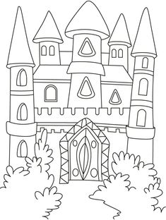 Download Or Print This Amazing Coloring Page A Magical Castle In The Forest Pages