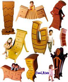 mãeeeeeeeeee, eu quero! Funny Furniture, Smart Furniture, Baby Furniture, Unique Furniture, Furniture Decor, Furniture Design, Chair Design Wooden, Wood Resin, Diy Box