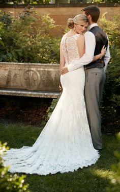 fa0272768cb5f This lace over matte-side Lavish satin designer wedding gown from Essense  of Australia offers an amazing fit with perfectly-placed details.
