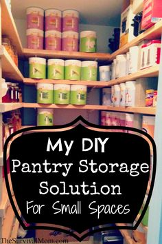 Pantry Storage DIY for Small Spaces.  Loved the information here.  Something to consider for the future.