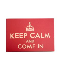 Alfombra felpudo KEEP CALM AND COME IN -60x40cm-