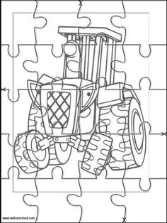 Printable jigsaw puzzles to cut out for kids Bob the Builder 2 Coloring Pages