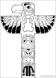 Totempole Yakari color page, cartoon characters coloring pages, color plate, coloring sheet,printable coloring picture