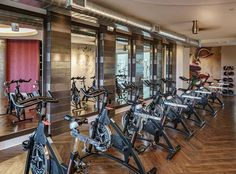Spin Bikes in Fitness Center