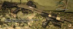 Mossberg 500 Tactical shot gun.