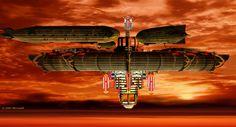 Crimson Skies HRTR, Casino Zeppelin concept.