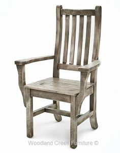 Cottage  Arm Chair in Gray Wash Finish