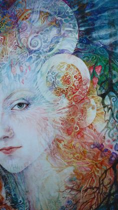 """""""Queen of Faerie and her Owls (zoom 1)"""" par Helena Nelson-Reed"""
