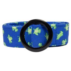 Frogs Fabric Belt with Buckle