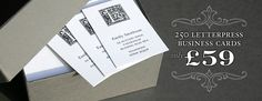 250 letterpress business cards for £59
